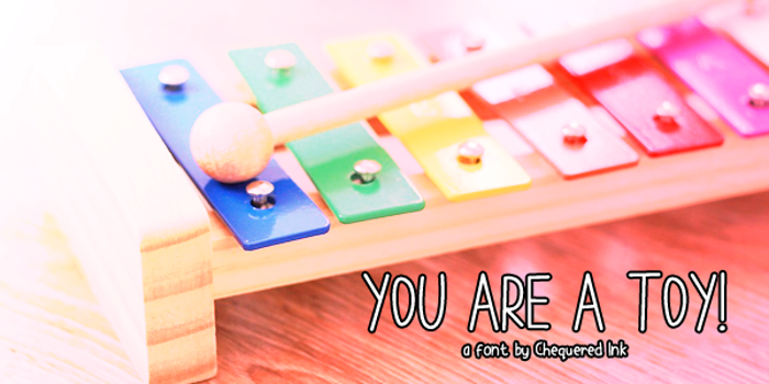 You are a TOY Font poster