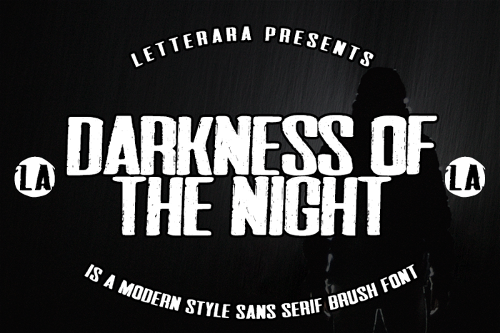 Darkness of the night Font poster
