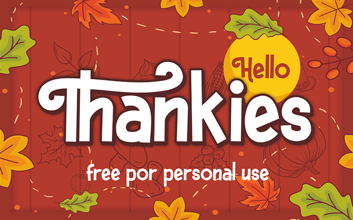Hello Thankies Font poster