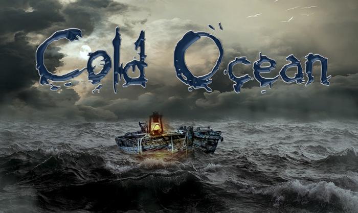 Cold Ocean Font poster