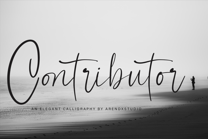 Contributor Font poster