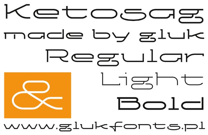 Ketosag Font poster