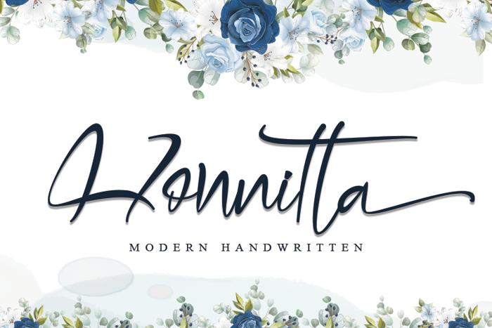 Honnitta Font poster