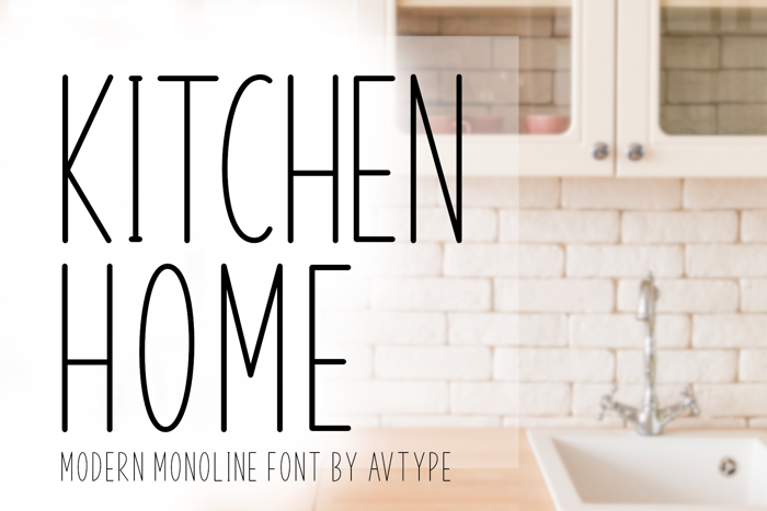 Kitchen Home Font poster