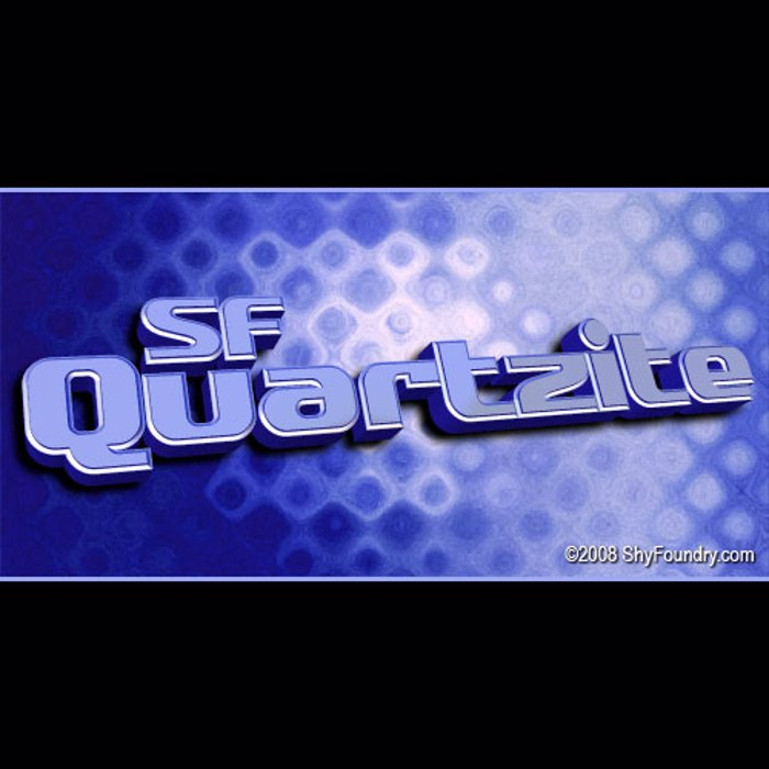 SF Quartzite Font poster