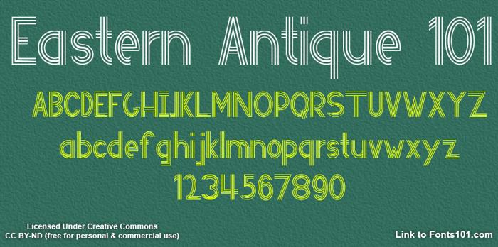Eastern Antique 101 Font poster