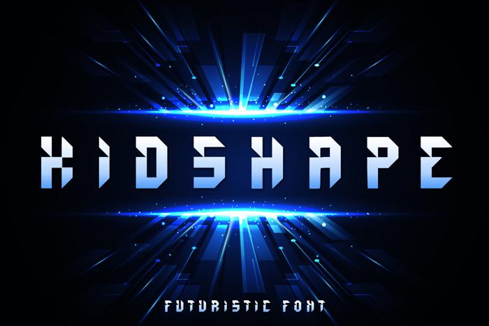 Kids Shape Font poster