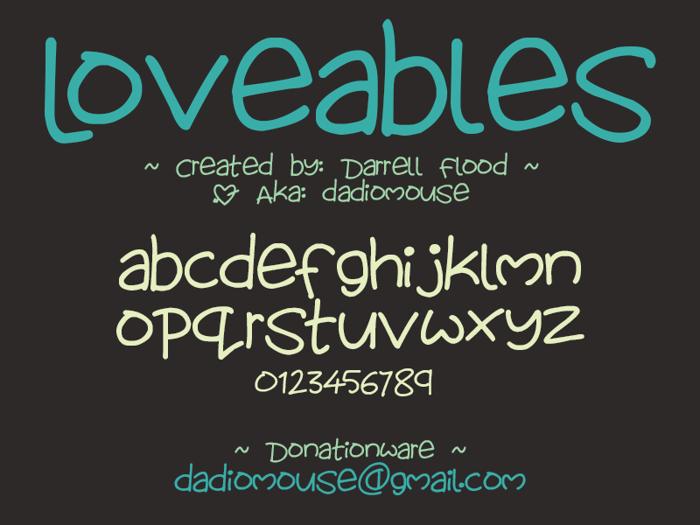 Lovables Font poster