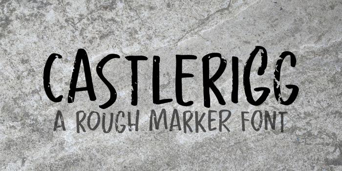 Castlerigg Font poster