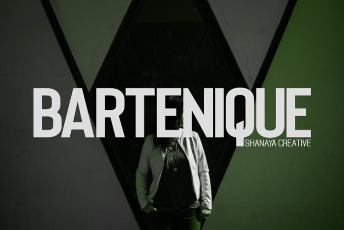 Bartenique Font poster