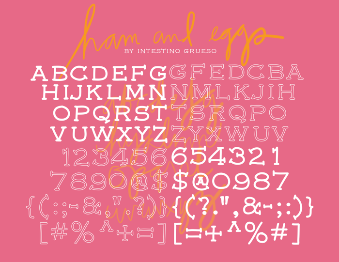 font5 Font poster