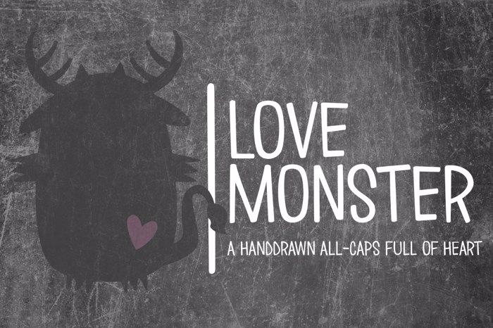 Love ∞ Monster Font poster