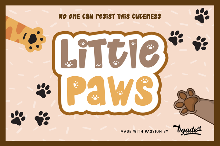 Little Paws Font poster