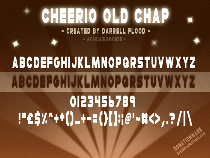 Cheerio Old Chap Font poster