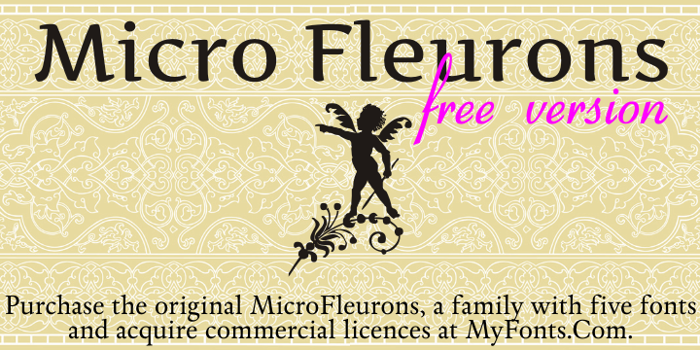Micro Fleurons Free Font poster