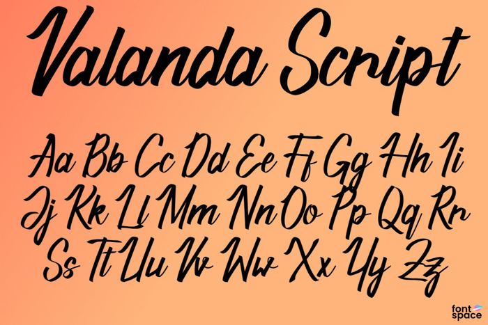 Valanda Script Font poster