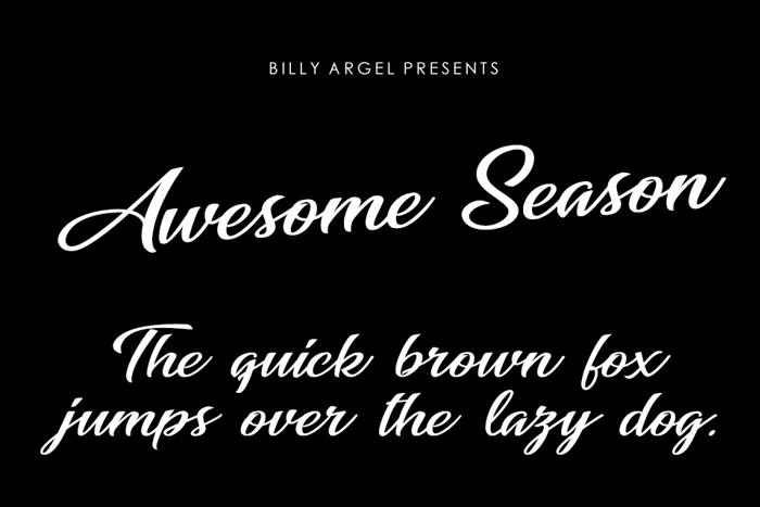 Awesome Season Font poster
