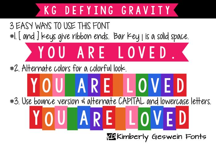 KG Defying Gravity Font poster
