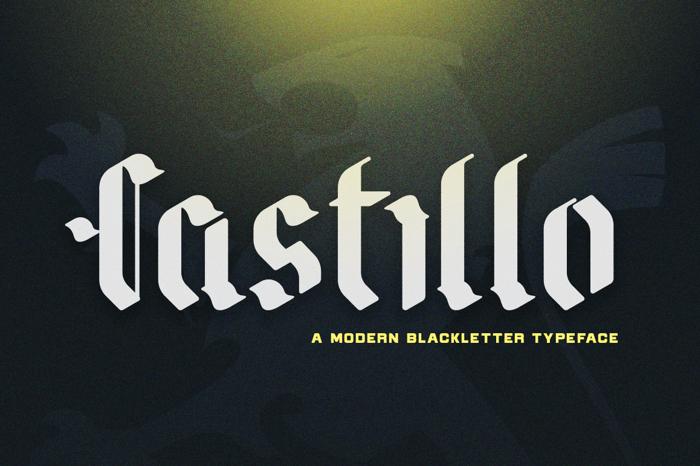 Castillo Font poster