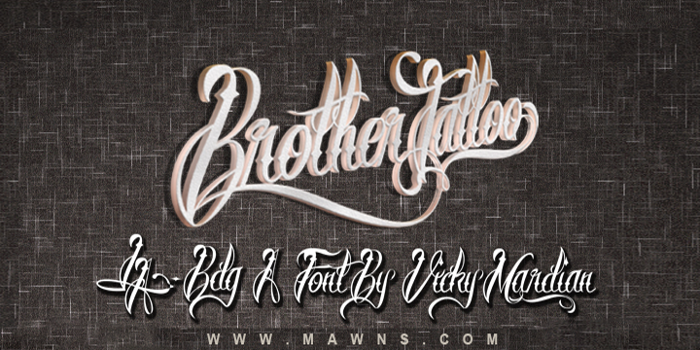 Brother Tattoo Font poster