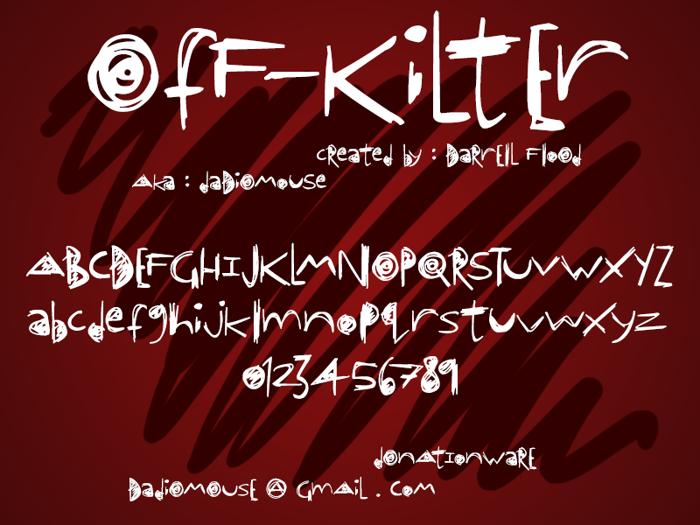 OfF-KiLtEr Font poster