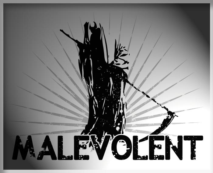 Malevolentz Font poster