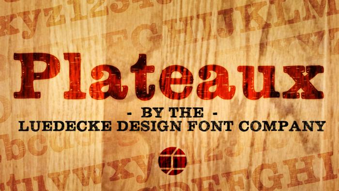 Plateaux Font poster