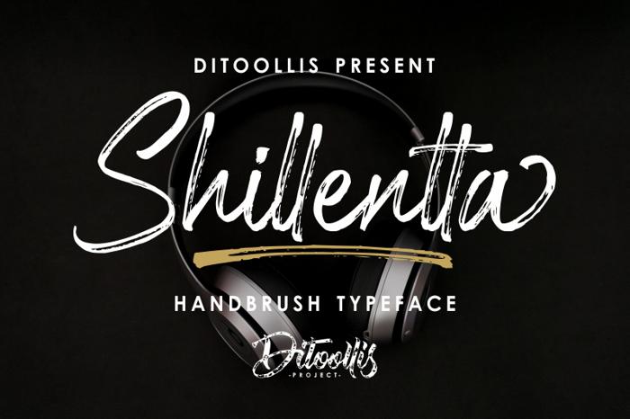 Shillentta Font poster