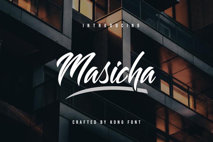Masicha Font poster