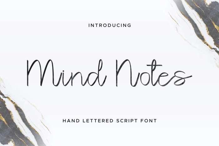 Mind Notes Font poster