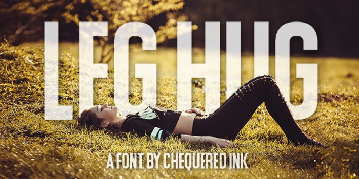 Leg Hug Font poster