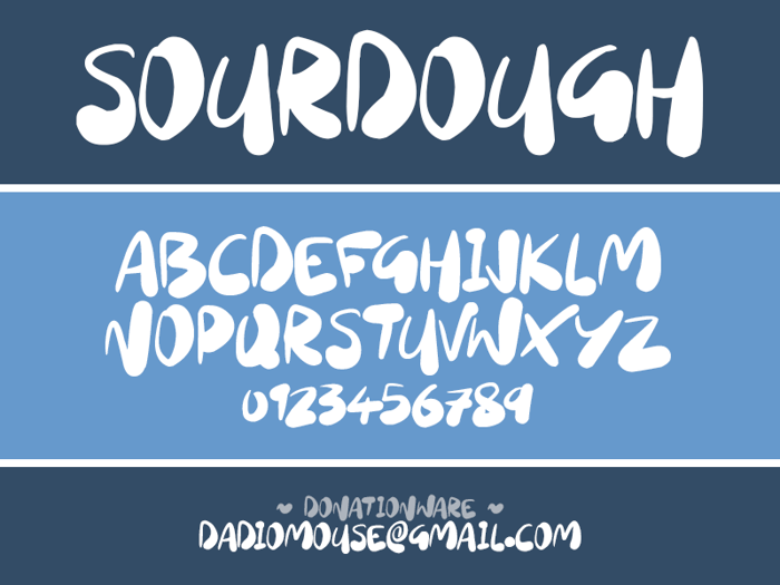 Sourdough Font poster
