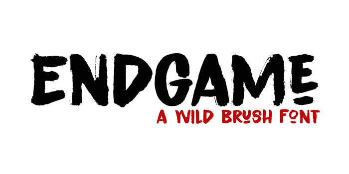 Endgame DEMO Font poster