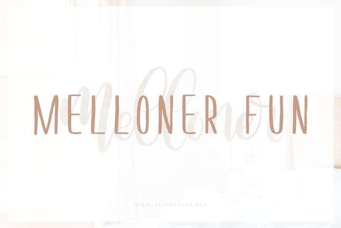 Melloner Fun Font poster