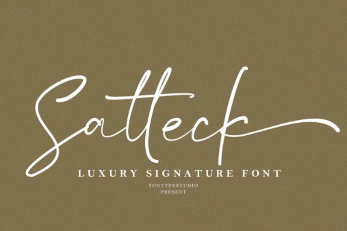 Satteck Font poster