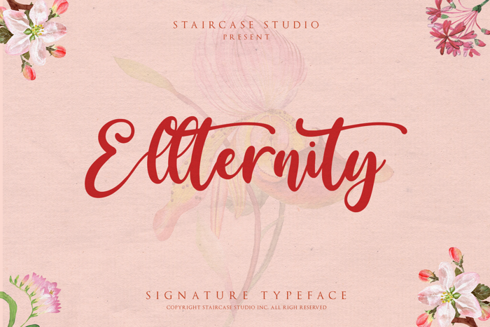 Ellternity Font poster