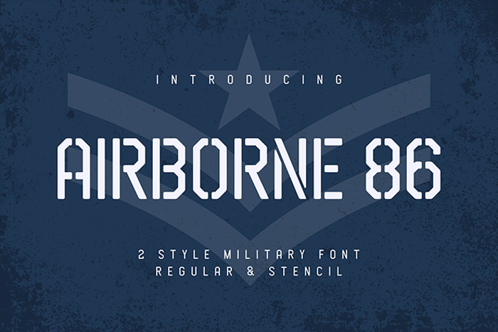 Airborne 86 Stencil Font poster