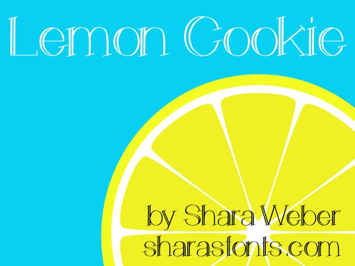 Lemon Cookie Font poster