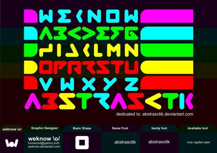 abstrasctik Font poster