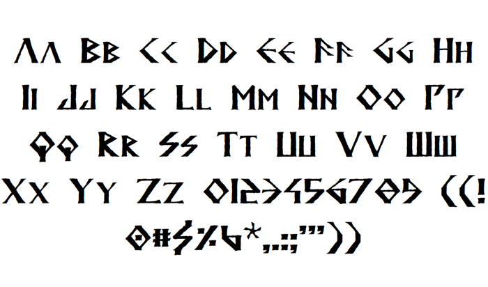 Anglodavek Font poster