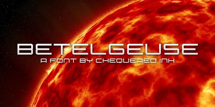Betelgeuse Font poster
