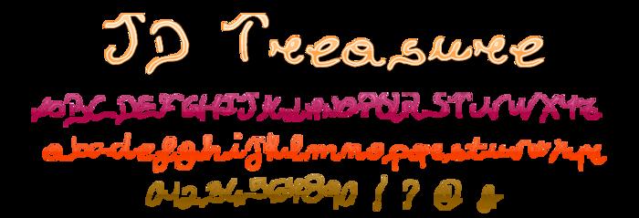 JDTreasure Font poster