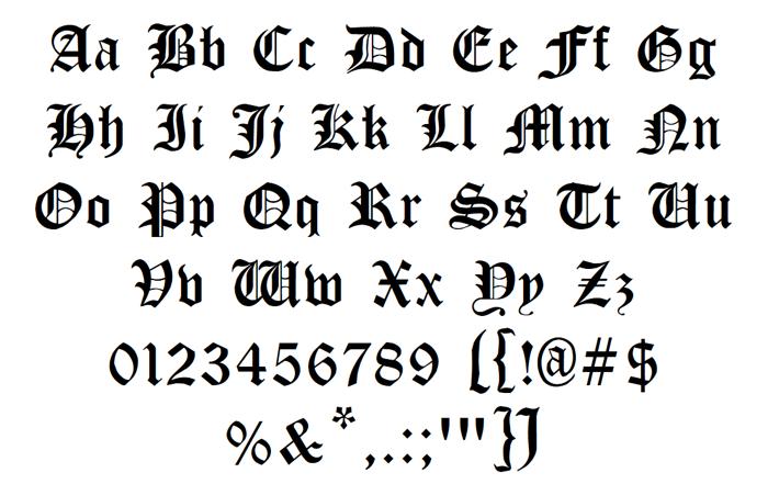 Cloister Black Font poster