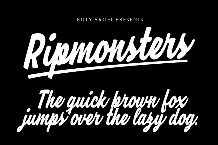 Ripmonsters Font poster