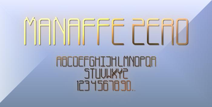 Manaffe-Zero Yunis Font poster