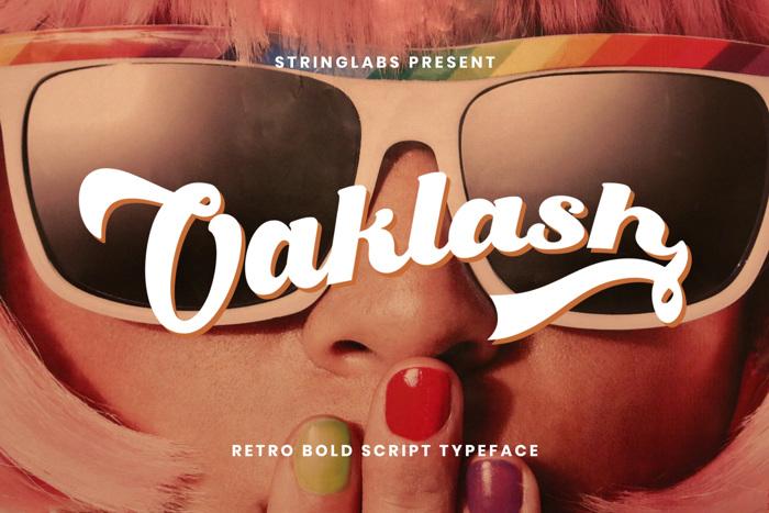 Oaklash Font poster