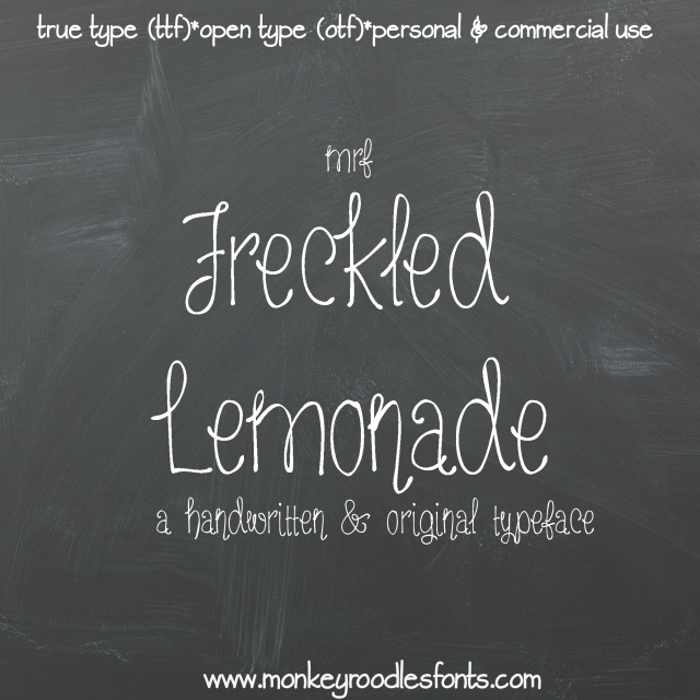 MRF Freckled Lemonade Font poster