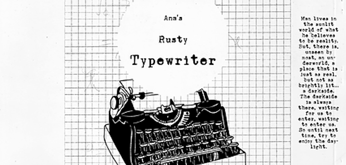 Ana's Rusty Typewriter Font poster