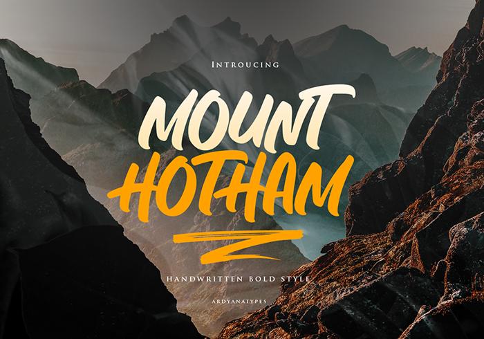 Hotham Font poster