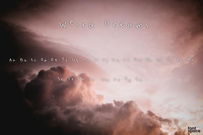 Weird Dreams Font poster